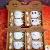 Kop van het Paar van de Kop van de Koffie van de Kop van de Koffie van de gift de Ceramische