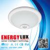 Luz de cristal del sensor de movimiento del montaje PIR del techo de Es-Pl01c 12W 220V LED