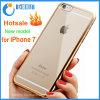 Caisse molle transparente de butoir de téléphone du mobile TPU de placage de luxe pour l'iPhone 7/7plus/Note 7