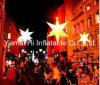 2015 estrela inflável de venda quente 024 para ao ar livre, decoração da rua com luz do diodo emissor de luz