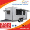2014 de Gemakkelijke Commerciële Bewegende Aanhangwagen van de Catering van het Voedsel van de Hotdog Dienende