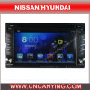 Car DVD Player for Pure Android 4.4 Car DVD Player with A9 CPU Capacitive Touch Screen GPS Bluetooth for Nissan/Hyundai (AD-7610)