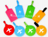 Tag macios flexíveis personalizados da mala de viagem do PVC do Tag da bagagem