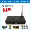 최신 판매 Zoomtak T8 Amlogic S802 쿼드 코어 텔레비젼 상자