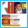 Offsetdrucken-frankierte Plastik-PVC Pin-rufende Karte