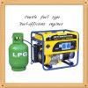 Aire-Cooled Home Use LPG y Gasoline Generator de 4000W Low Noise para Sale