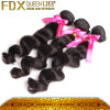 Brasiliano allentato nero naturale dei capelli dell'onda di vendita 2014 di tessitura calda dei capelli