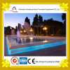 Rectangular esterno Park Pond Fountain con Colored Lamps
