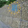 Gaiola de pedra revestida do PVC Gabion