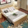 Solid Wooden Bed Modern Double Beds (M-X2346)