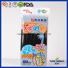 Negro Straws& de consumición plástico artístico plástico de la fuente de la barra
