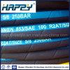 Boyau en caoutchouc hydraulique industriel tressé du fil 2sn flexible
