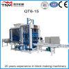 Bloc concret automatique faisant machine la brique usiner (QT6-15B)