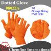 7g Оранжевый Полиэстер / хлопок трикотажные перчатки с оранжевой ПВХ Dots