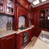 Mobilia europea lussuosa della cucina di stile di legno solido