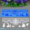 3D Princess Cake Border Lace Mould para Engage, Wedding, Fairy Cake