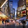 夜眺めの建築視覚化3Dのレンダリング