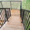Nuevo carril al aire libre de la escalera del hierro labrado del diseño