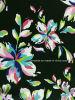 Tela negra de la impresión de la flor para el traje de baño (HD1401023)