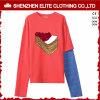 Magliette felpate all'ingrosso del pullover dei vestiti delle donne su ordinazione (ELTHI-63)