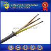 300V 500V cable trenzado de la trenza del acero inoxidable de la fibra de vidrio de 450 grados