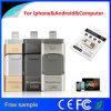 Mecanismo impulsor del flash del USB del metal 3in1 OTG para el teléfono elegante