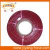 Шланг PVC красной прозрачной усиленный оплеткой/шланг сада/шланг воды