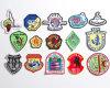 A01 insignias bordadas con la frontera merrowed