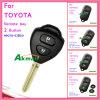 Chave remota do carro para Toyota Corolla com 2 botões 89070-52b50