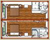 Спальня FRP полуфабрикат для 4 People