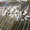 Skewer do calamar de North Pacific do alimento de mar