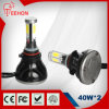 4 lati Emitting 40W LED Car Headlight (Base: HB4/9006)