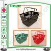 Panier à provisions en plastique personnalisé par commerce de détail de couleur