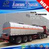 remorque triaxiale de camion-citerne de transport d'asphalte avec le système de chauffage