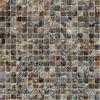 Sqaure 본에 있는 무지개 빛깔 민물 포탄 메시 합동 모자이크 타일, 목욕탕 모자이크 타일 (BFW-HC-SQ15)