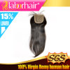 Brazilian Human Virgin Hair Hand Atado Free Parted Lace Closure Lbh 109