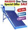 Géiser solar solar del calentador de agua del tubo de vacío de la presión inferior/géiser solar no presurizado