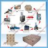 Paleta de madera de la alta productividad que hace máquina la cadena de producción completa