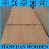 madeira compensada comercial laminada Okoume do núcleo do Poplar de 9mm