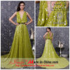 Платье 2013 вечера Sequins зеленого цвета конструкции Jueshe новое (q-119)