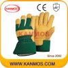 De gele Handschoenen van het Werk van de Bedrijfsveiligheid van het Leer van de Zweep (120031)