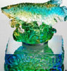 Art Glass Crafts / Glaze colorido / Liu Li Factory Outlets / Feng Shui Golden Fish