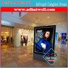 Caixa leve Backlit diodo emissor de luz dos anúncios do centro comercial da ceia