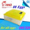 Incubatrice delle uova di controllo di temperatura automatica di Hhd 88 per covare