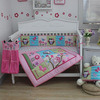 Rosafarbenes Eulen-Baby-Bettwäsche-Set