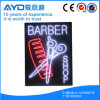 Retângulo de Hidly o sinal do diodo emissor de luz do barbeiro de América