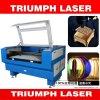 Typenschild-Gravierfräsmaschine-Papier-hölzerner Steinglaskristalllaser-Ausschnitt-Maschinen-Preis-Triumph