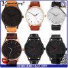 Da fábrica Yxl-158 relógio relativo à promoção luxuoso do aço inoxidável da moda do homem de negócios do relógio dos homens da mão do couro genuíno do relógio de pulso diretamente