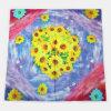 Silk Sonnenblume-Digital-Drucken-grosser quadratischer Schal
