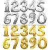 Balão colorido da folha de alumínio do OEM com projeto do número para o partido